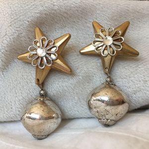 Vintage Star Earrings